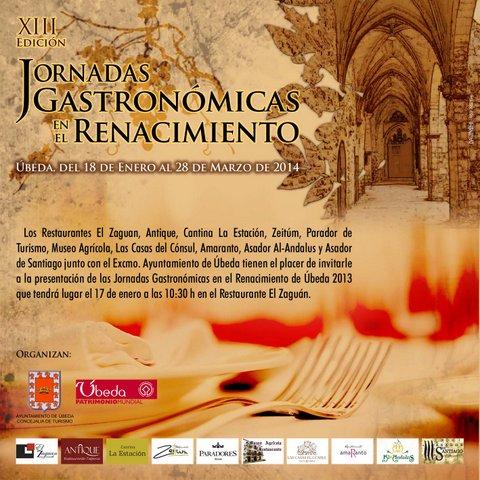 XIII Edición Jornadas Gastronómicas en el Renacimiento